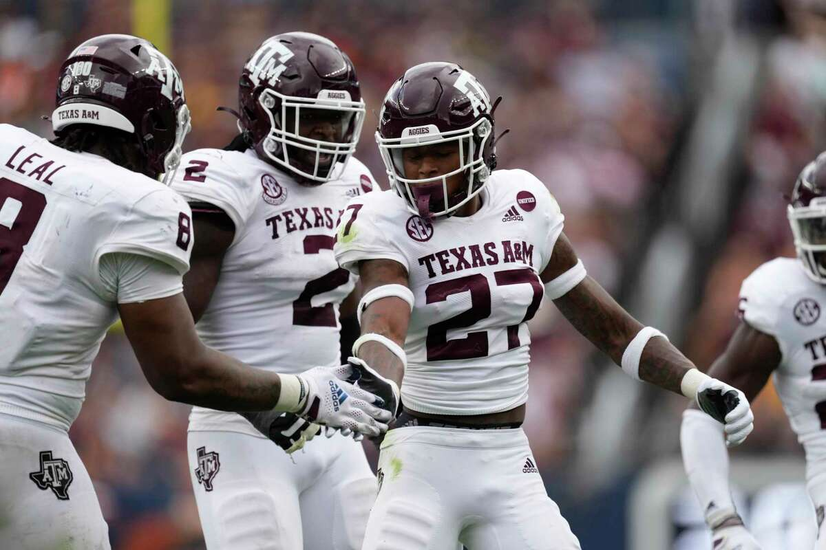 Texas A&M defensive back Antonio Johnson leads the team in tackles from his nickel position in the secondary.