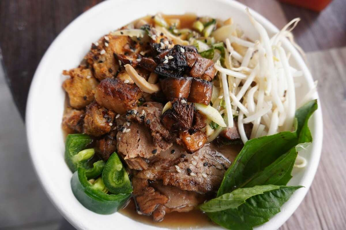 Beef brisket and pork belly pho at Communion in the Central District