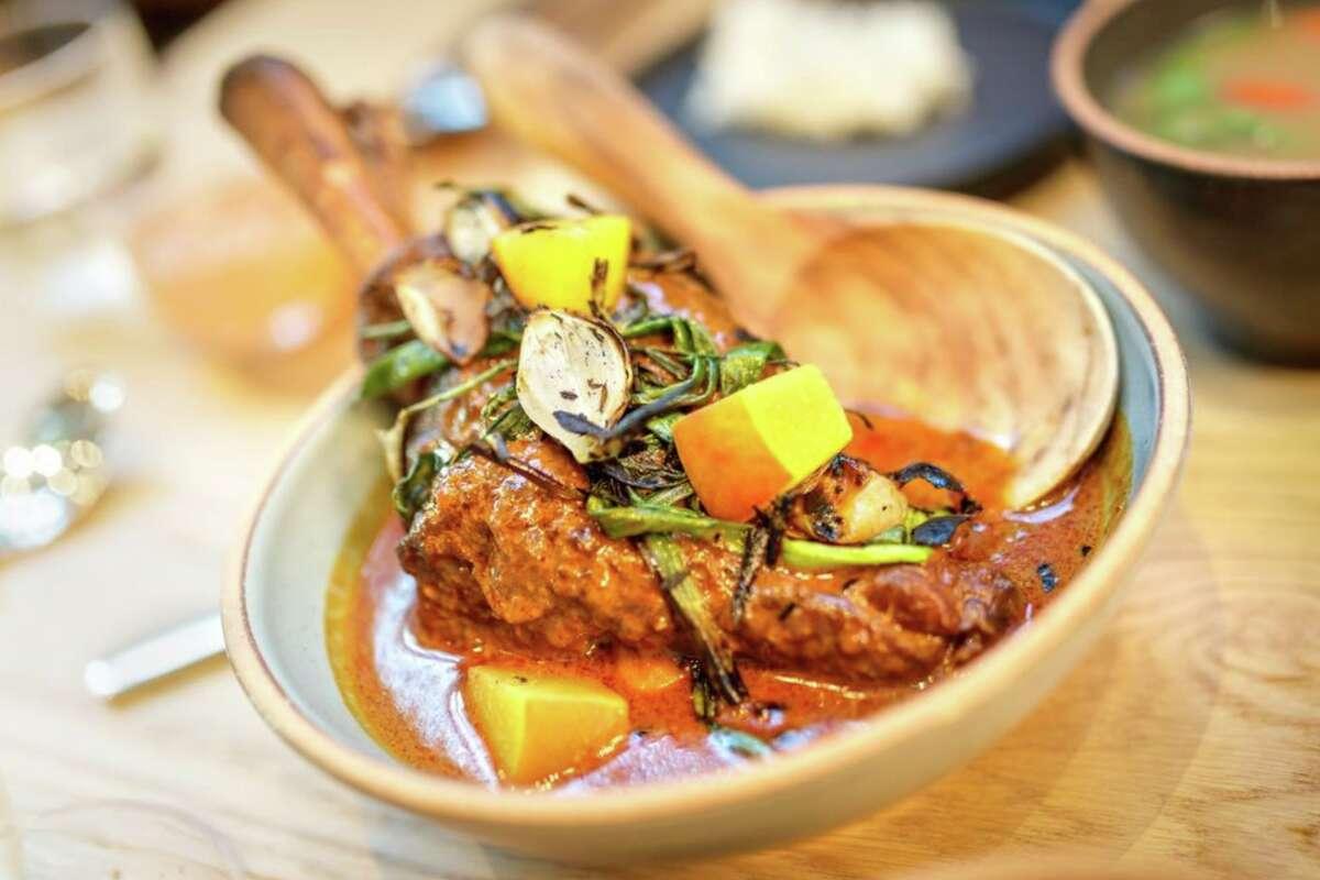 The massaman gae dish served at Nari in San Francisco.