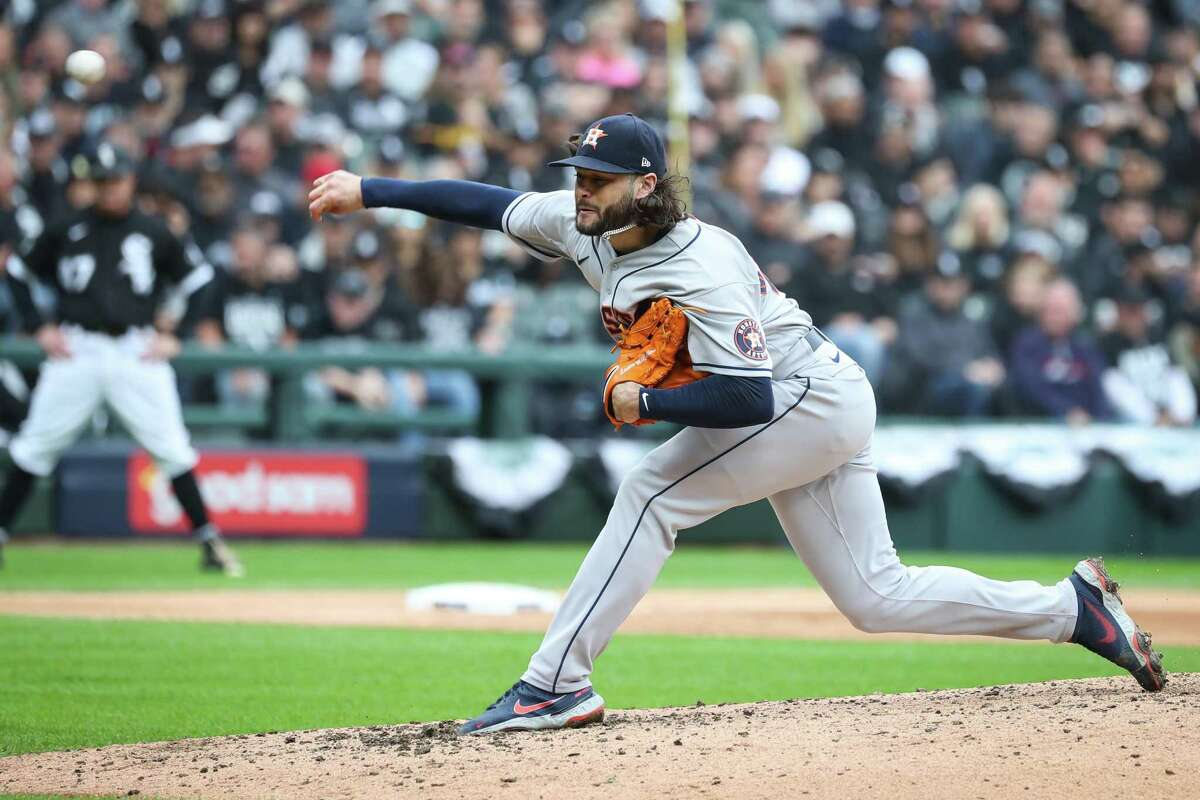 Astros righthander Lance McCullers Jr. departed Tuesday's start against the White Sox after throwing 73 pitches, 44 for strikes.