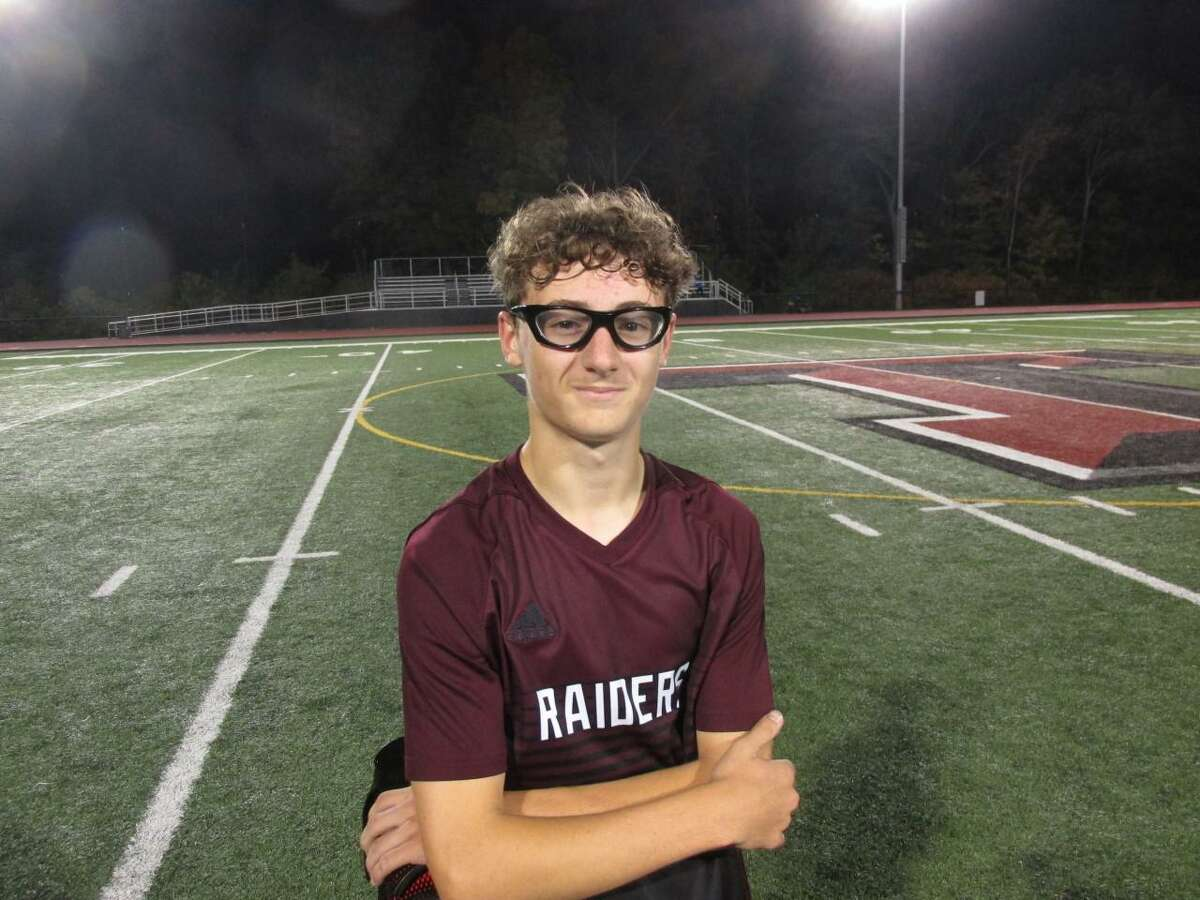 Torrington's Chase Gurtowsky led the Raiders back from a pair of losses last week with a hat trick against Wolcott Tuesday night at the Robert H. Frost Sports Complex.