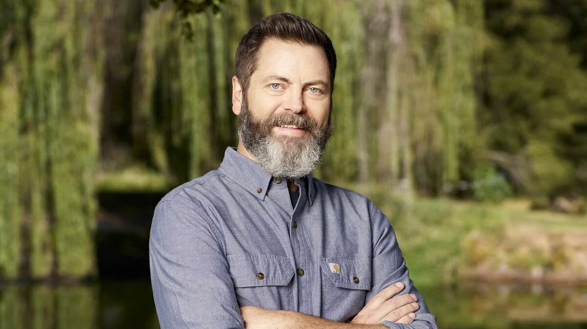 Comedian, author and actor Nick Offerman recently visited Thacher State Park for an interview with CBS News and came away delighted with views from the escarpment. (Photo by: Chris Haston/NBCU Photo Bank/NBCUniversal via Getty Images)