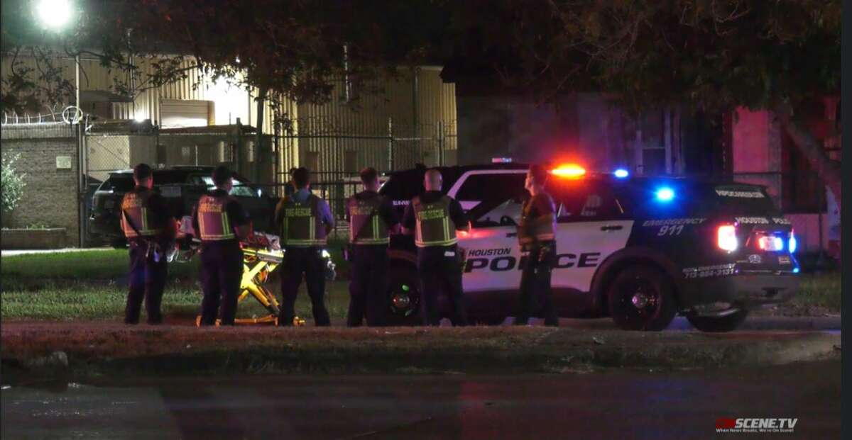 A suspect is in custody after two people were killed at a north Houston home Tuesday night, according to Houston Police.