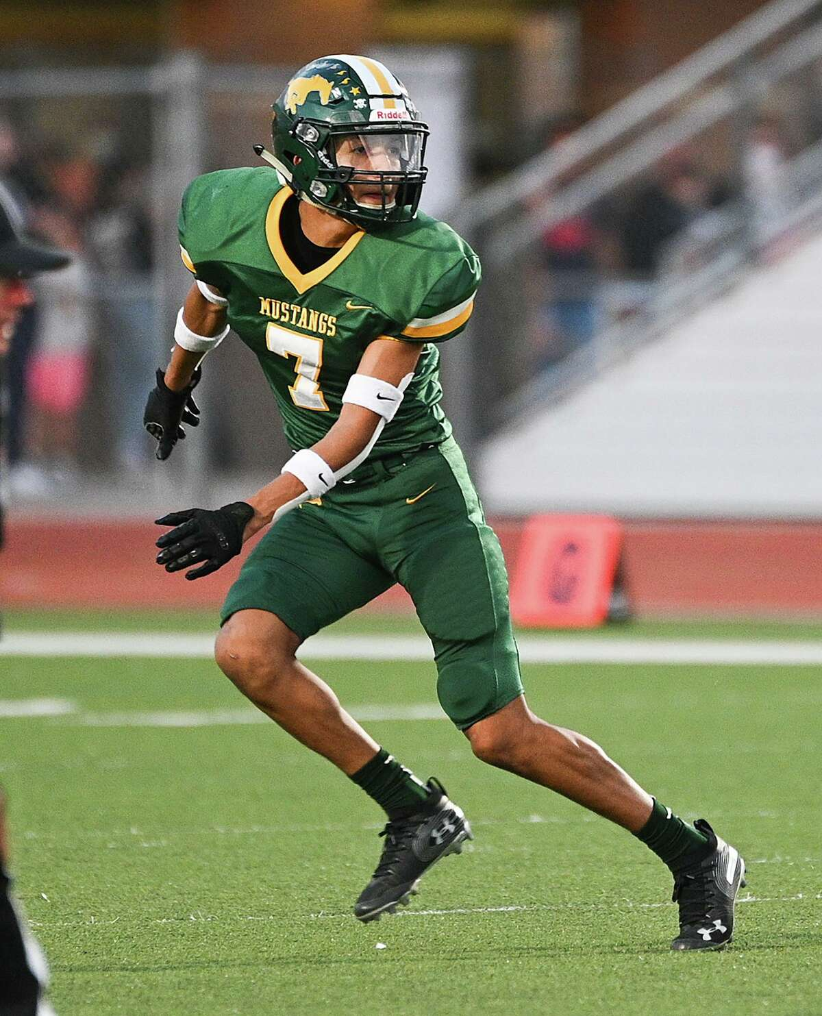 Free safety Alexis Aldana is dependable defensive back for the Mustangs.