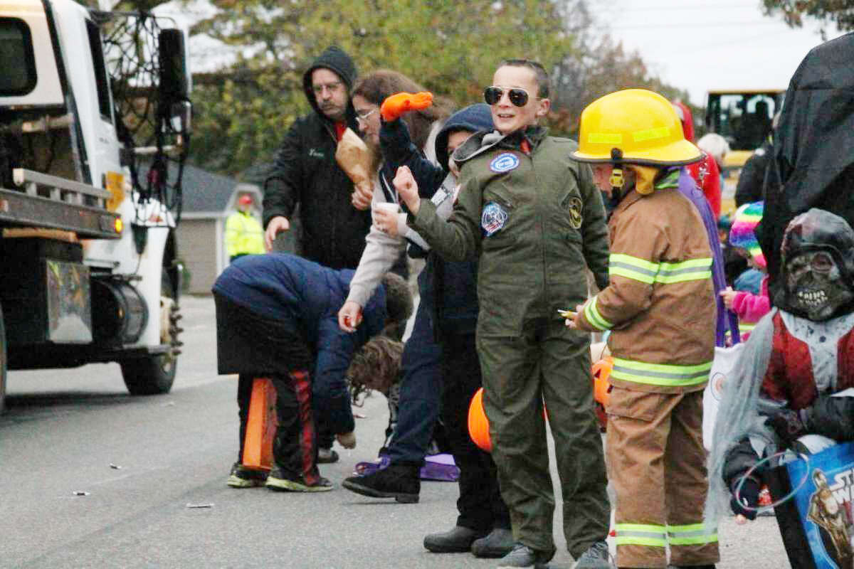 Families are dressed up for the Filer Township Fire Department Halloween parade in 2017. The event has been held for roughly 20 years but was canceled in 2020 due to the pandemic. The event returns this year on Halloween.