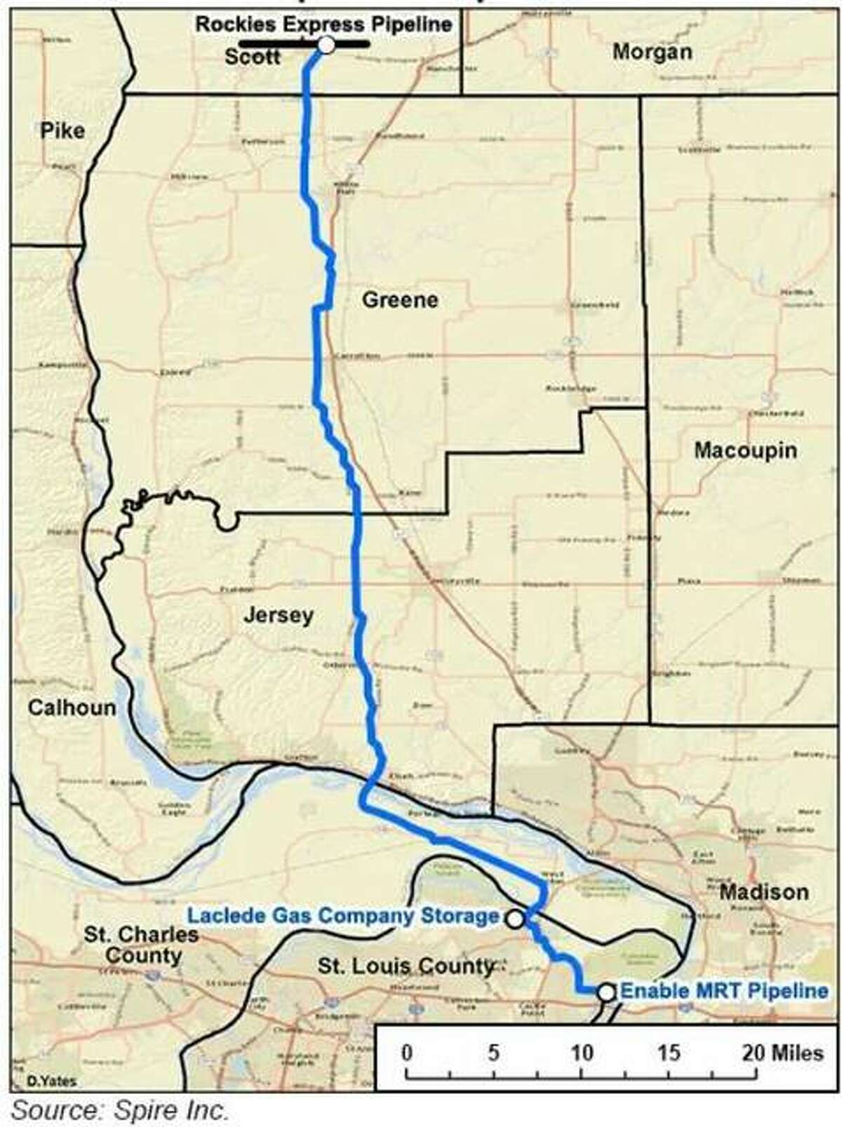 Spire Inc. wants the U.S. Supreme Court to allow it to keep operating a pipeline through Illinois and Missouri, warning a winter shutdown could be devastating to customers.