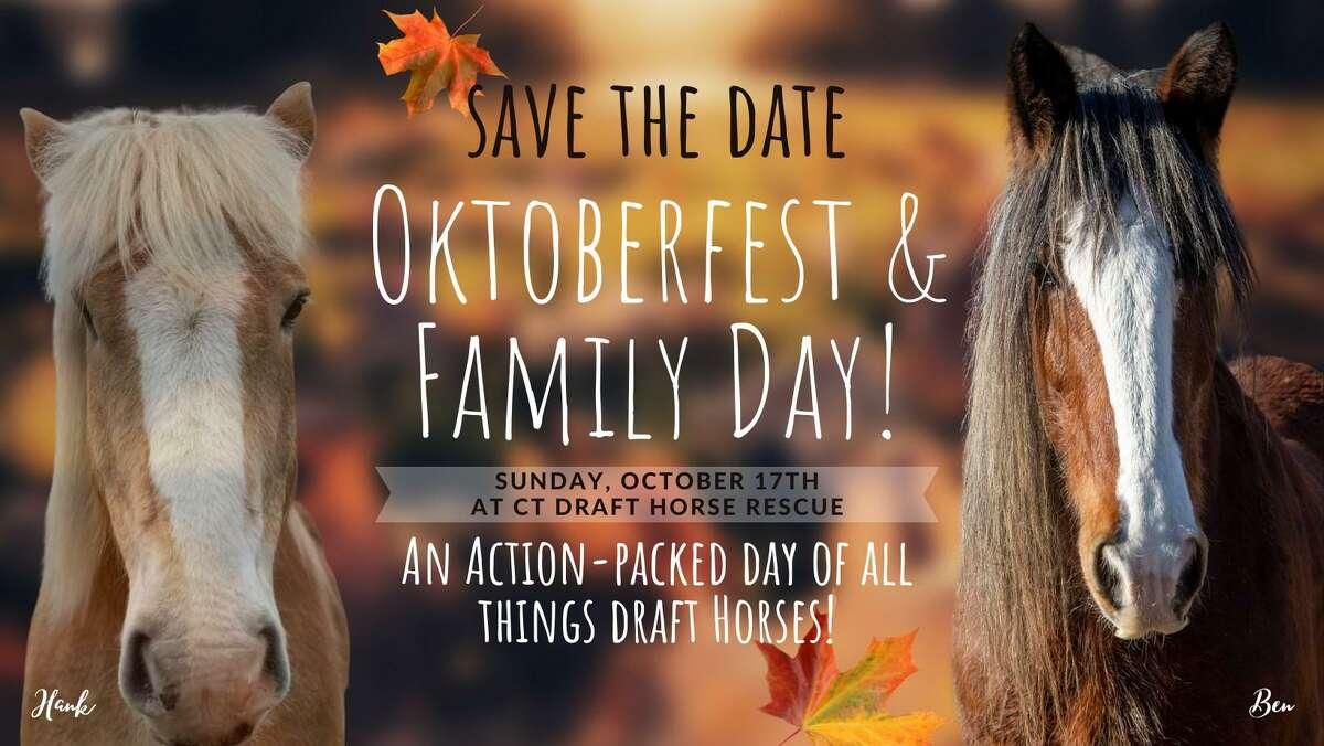 The Connecticut Draft Horse Rescue farm in East Hampton will host an Oktoberfest/Family Fun Day Sunday.