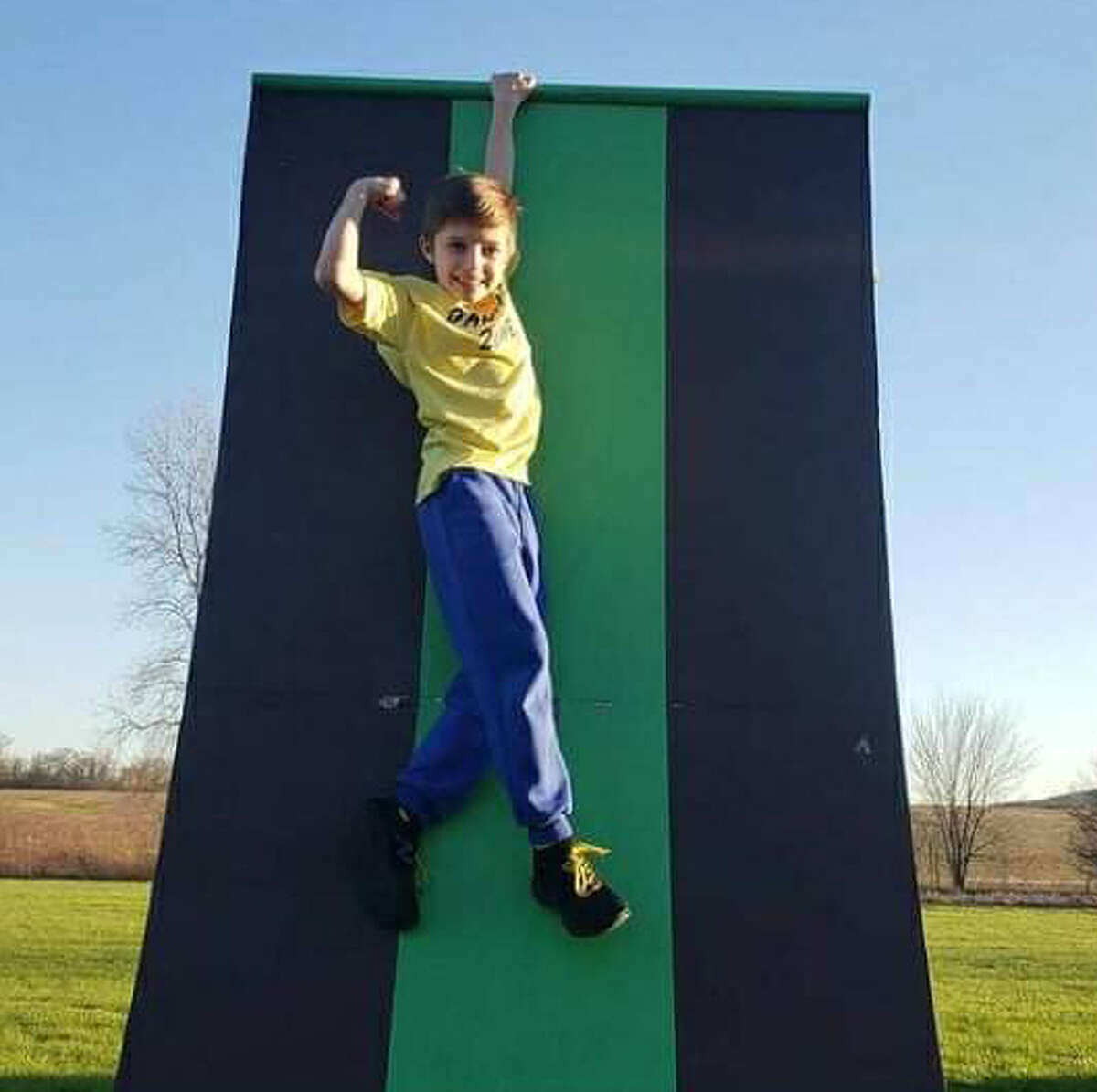 """Colton Davis, 9, of Edwardsville, will appear in Thursday's episode of """"American Ninja Warrior Junior,"""" which will be streamed on the Peacock network."""