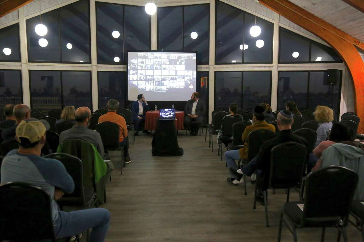 """Chabad of Fairfield hosted a program, """"Today's Encounters with Anti-Semitism,"""" on Oct. 10, 2021 at the Jacky Durell Pavilion."""