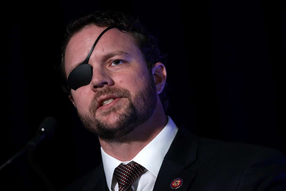 """U.S. Rep. Dan Crenshaw (R-TX) speaks on """"The Fate of Our Culture and Our Nation Hangs in the Balance"""" during the CPAC Direct Action Training at the annual Conservative Political Action Conference at Gaylord National Resort & Convention Center February 26, 2020 in National Harbor, Maryland."""