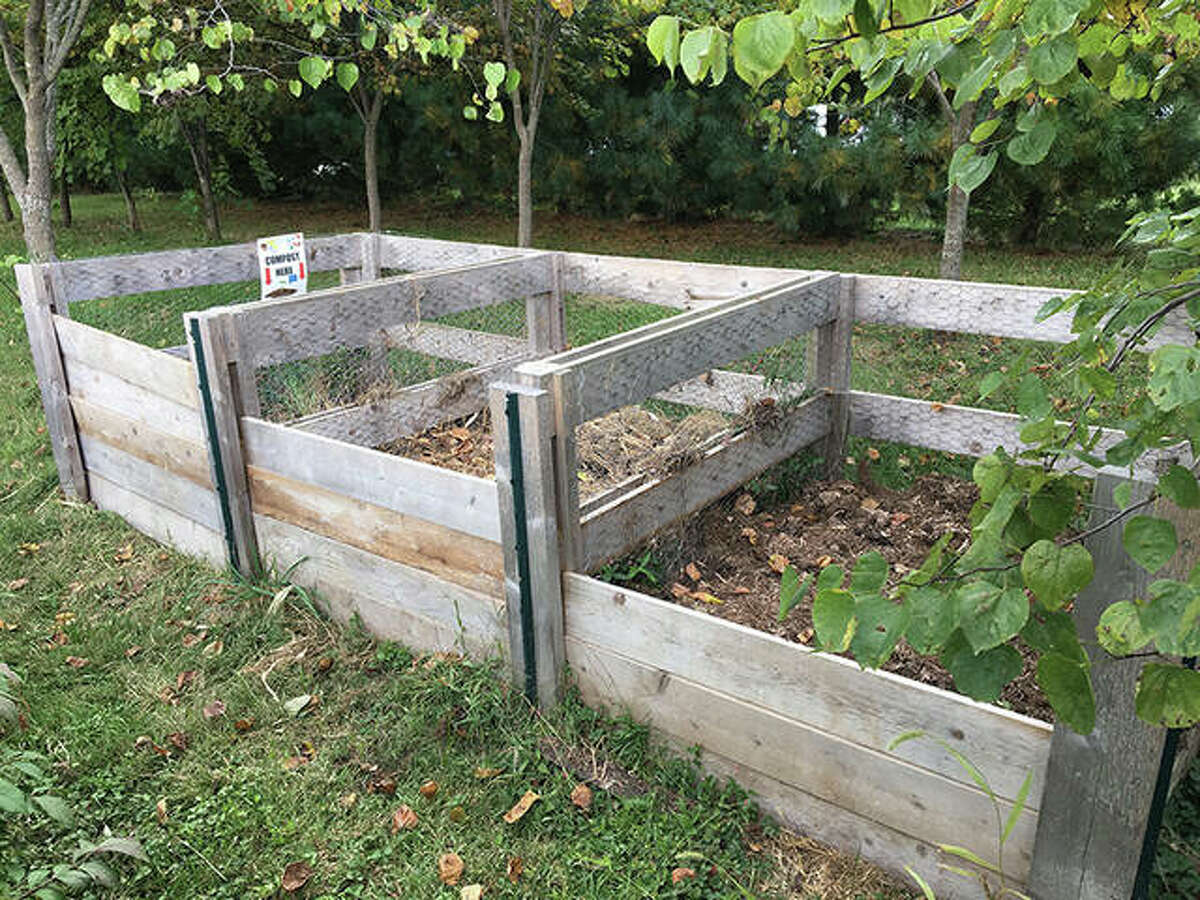 The compost bins at St. John's United Methodist Church in Edwardsville are an example of one of the composting methods listed by Good Dirt Composting Collective (GDCC).