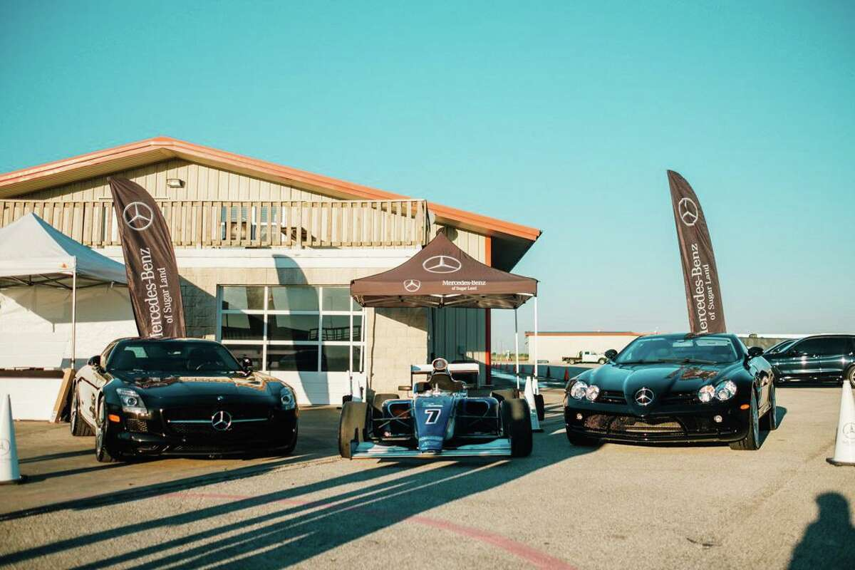"""Mercedes-Benz of Sugar Land cars on display at """"Drive for Kids"""" event."""