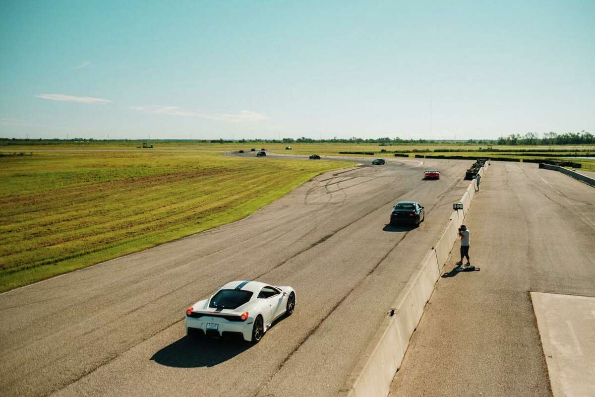 """Participants drove parade laps at the """"Drive for Kids"""" event."""