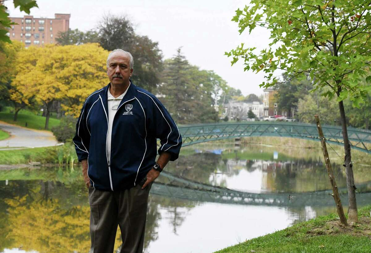 Police Athletic League Executive Director Lenny Ricchiuti is pictured in Washington Park where the annual Capital Holiday Lights in the Park would take place if PAL organizers can find enough workers to set up the large displays on Wednesday, Oct. 13, 2021, in Albany, N.Y. The annual event may not happen this year if organizers don't secure enough volunteers.