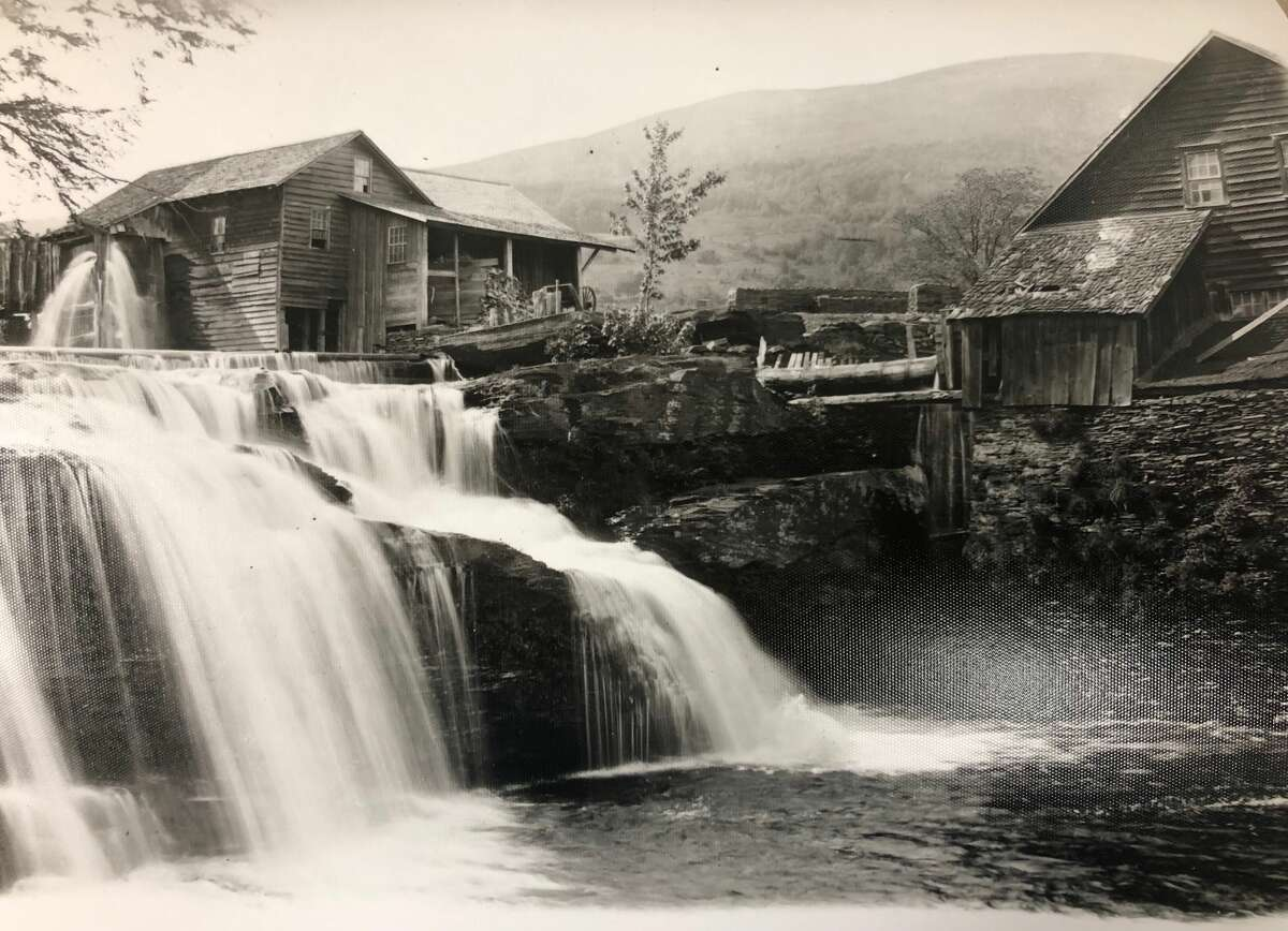"""Bishop Falls was called the """"Gateway to the Catskills"""" by Harper's Weekly. The early 20th century tourist attraction was submerged in the construction of the Ashokan Reservoir."""