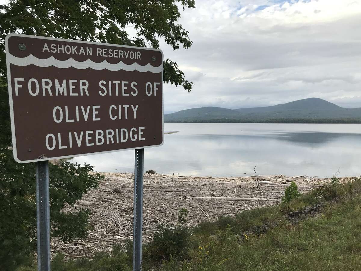Brown signs visible to motorists along Route 28 and Reservoir Road list the former sites of the hamlets submerged in the making of the Ashokan Reservoir.