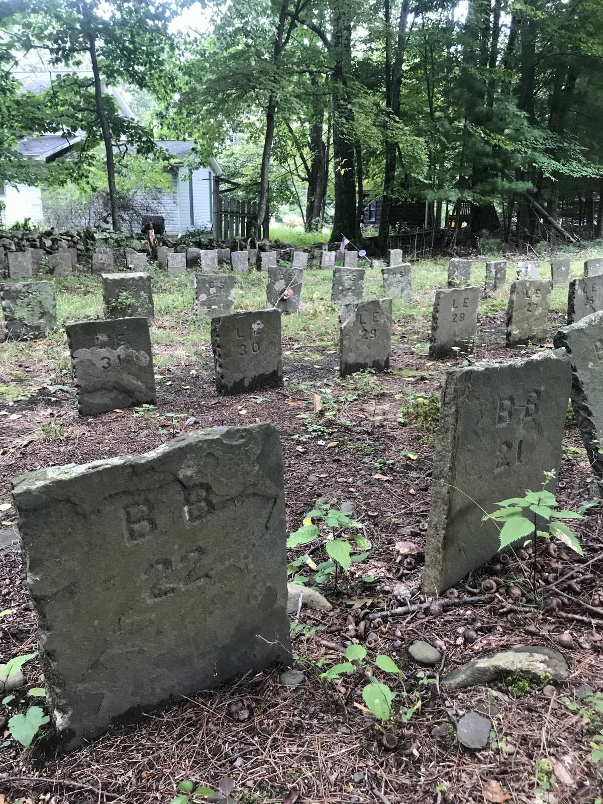 """Dr. April M. Beisaw, an archeologist whose book """"Taking their Water for Our City: Archaeology in New York City Watershed Communities"""" will be published next year, believes the 285 headstones that bear no names at Bushkill Cemetery in West Shokan deserve interpretative signage to explain what happened to these displaced gravesites."""