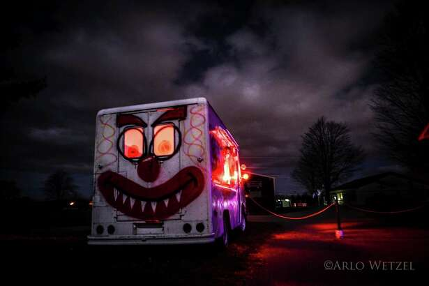 Screams in the Dark is home to some pretty colorful characters just waiting to scare visitors. (Courtesy Photo/Arlo Wetzel)