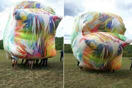 Claire Ashley's works transform ordinary materials into inflatable large-scale painted sculptures. (Courtesy photo)