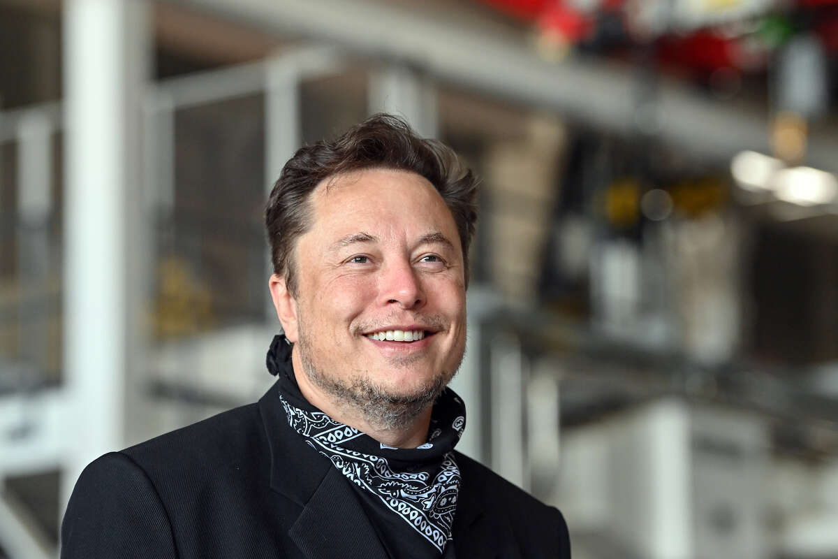 File photo of Elon Musk at the Tesla Gigafactory during a press event.