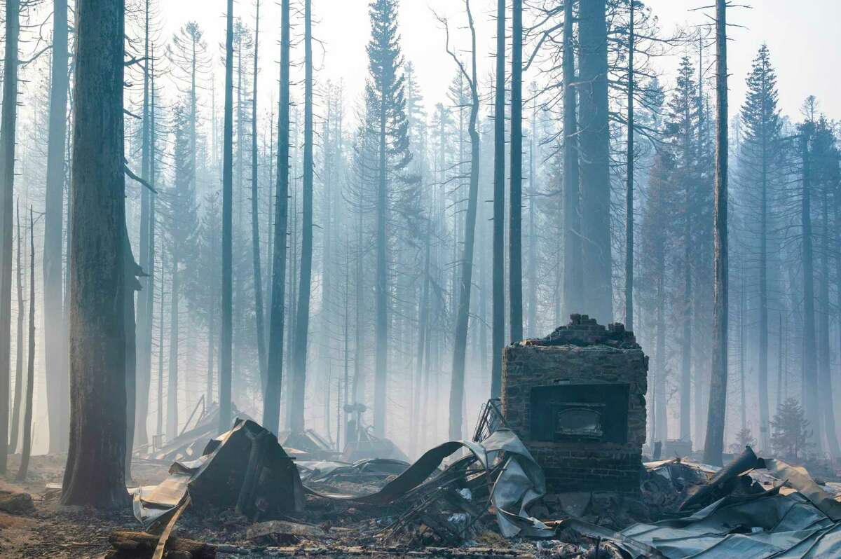 Homes lost to the Caldor Fire in Twin Bridges (El Dorado County). Above-normal rain may be on the horizon this month.
