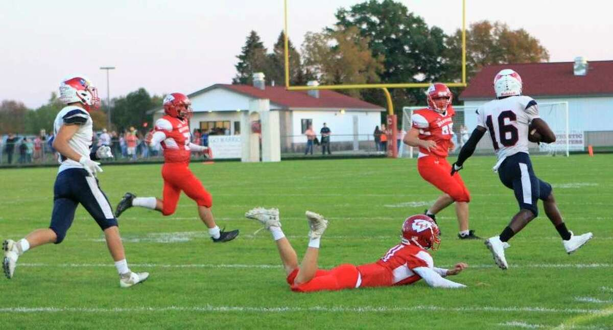 The Big Rapids football team will play its second-to-last game of the regular season on Friday night when the Cardinals play host to the Tri County Vikings at Cardinal Stadium. (Pioneer file photo)
