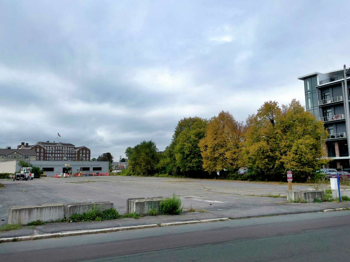 A view of the lot located at 222 South Ferry St., seen here on Wednesday, Oct. 13, 2021, in Schenectady, N.Y. Schenectady County has bought it for SUNY Schenectady.