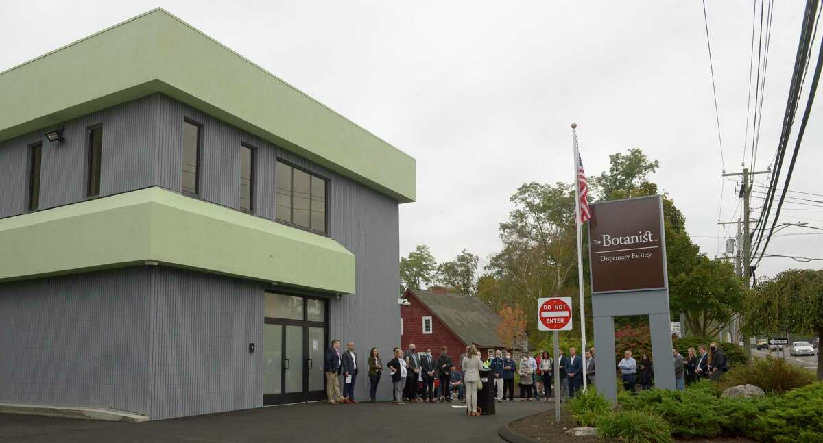 The Botanist, the new medical marijuana dispensary, on Mill Plain Road, held an opening ceremony on Wednesday morning. October 13, 2021, in Danbury, Conn.