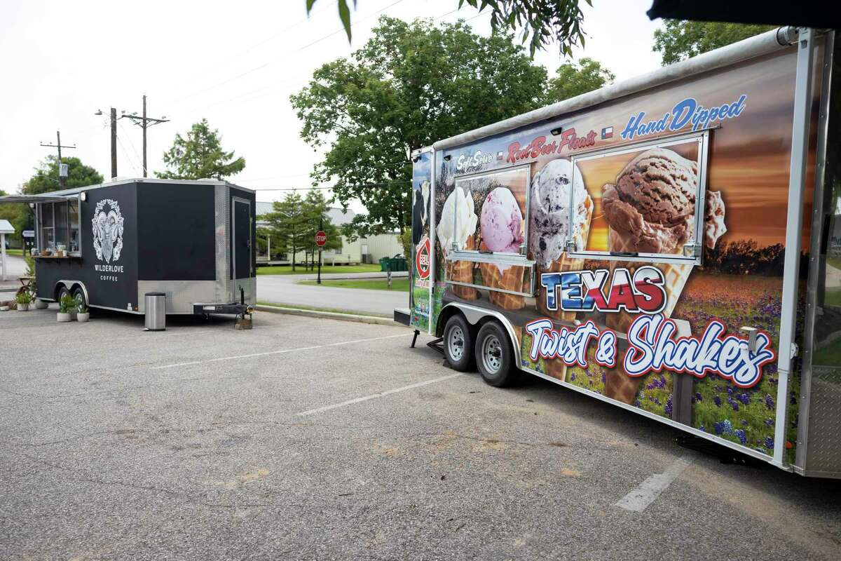 Food trucks are seen at historic Montgomery, Wednesday, July 21, 2021, in Montgomery. Montgomery city officials continue to debate the regulation and operation of food trucks in the city.