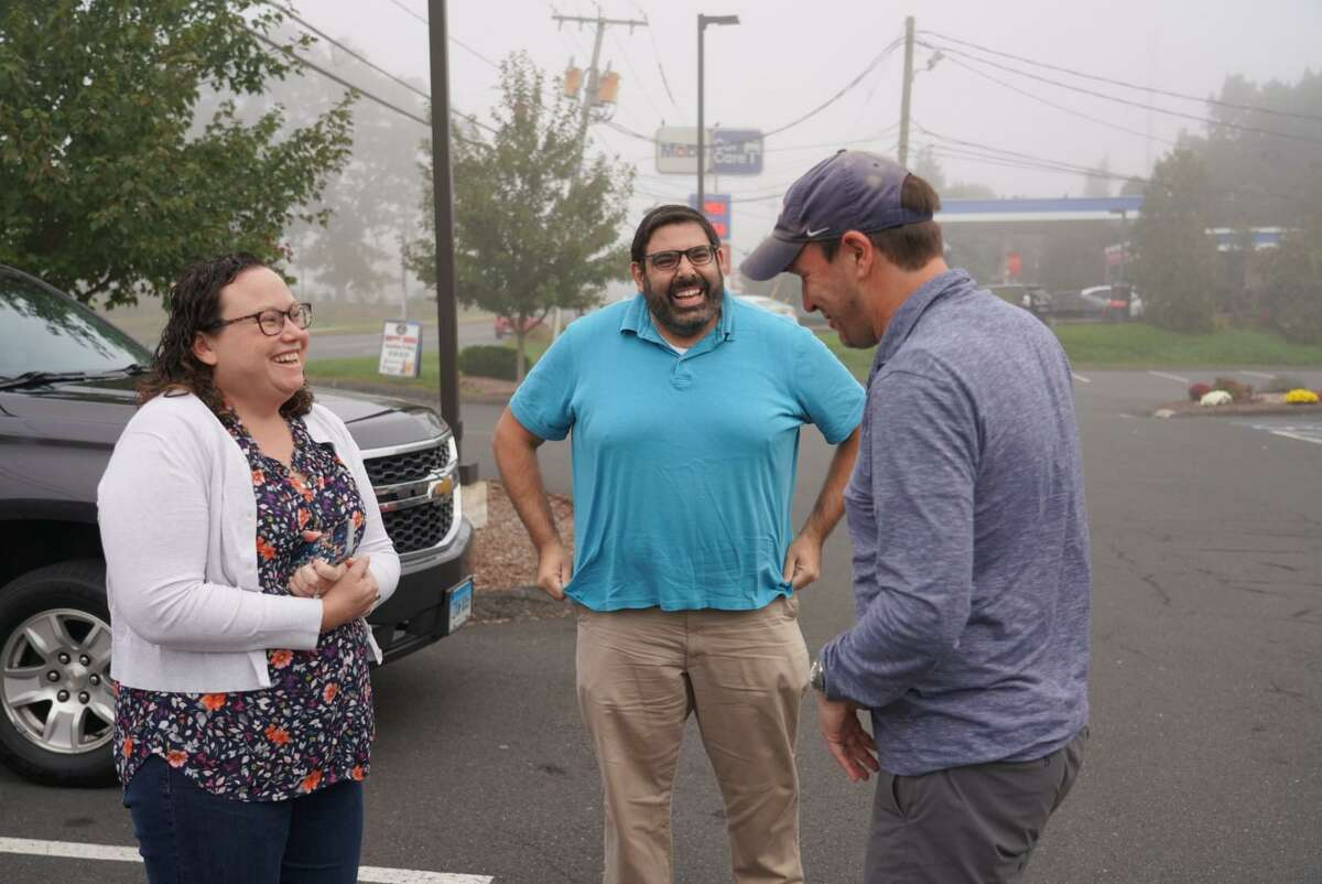 """U.S. Sen. Chris Murphy passed through Cromwell, Portland, Middletown and Durham on Wednesday, stopping into businesses and talking with residents, as part of his fifth """"Walk Across Connecticut."""""""