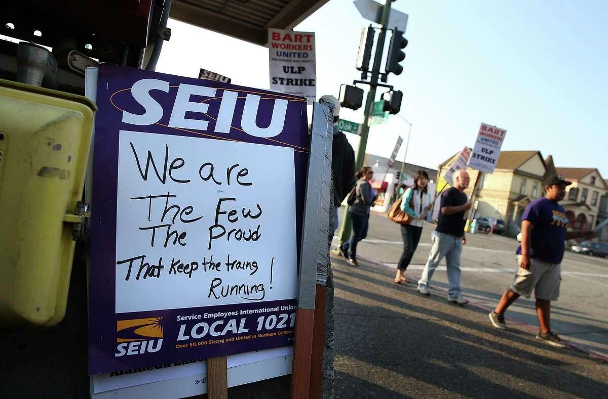 A file photo of SEIU Local 1021 in Oakland.