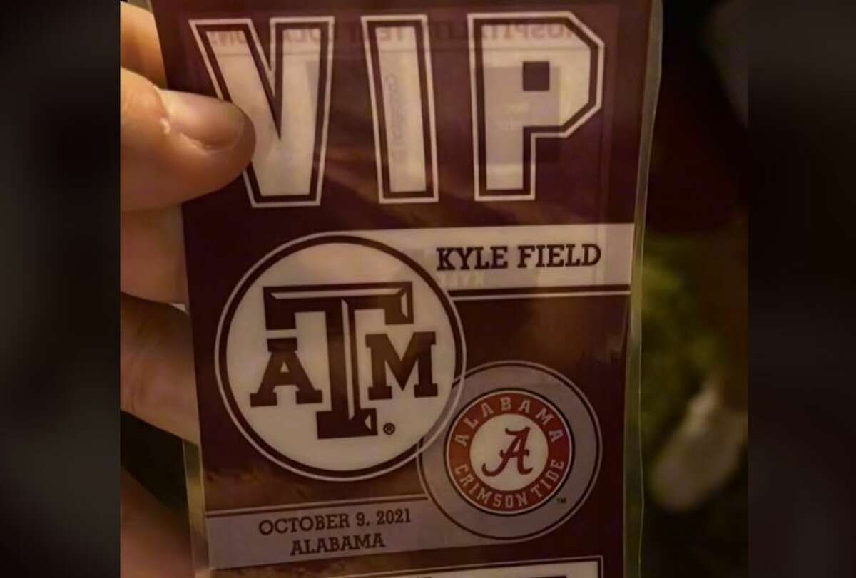 A UTSA student finessed into the huge Texas A&M versus Alabama football game by using a random VIP tailgate pass he found.