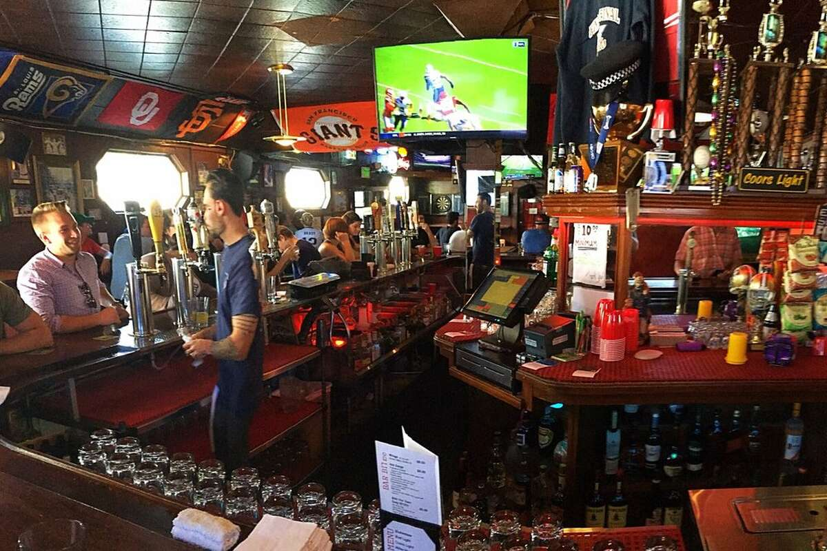 Sports bar Final Final offers plenty of TVs to watch the game in San Francisco, Calif.