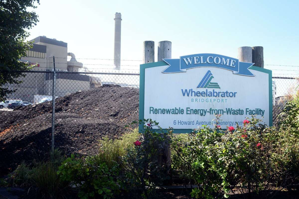 Wheelabrator Bridgeport, in Bridgeport, Conn. The waste-to-energy plant is one of several in the state that supplies ash to the Wheelabrator landfill in Putnam.