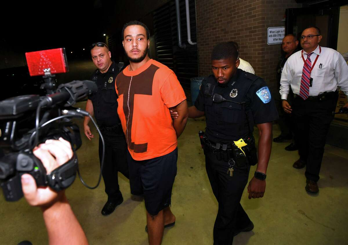 Beaumont Police arrested Lively James Stratton, 22, Sunday in connection with the quadruple homicide near Alice Keith Park earlier that day. Photo taken Sunday, 9/29/19