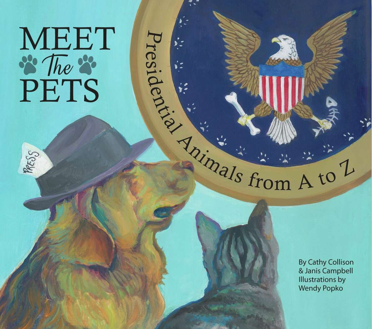 """The authors and illustrators of the newly published""""Meet The Pets: Presidential Animals from A to Z,"""" will be signing copies of their book in Frankfort. (Courtesy Photo)"""