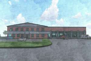 An early concept of a new fire station and township office that Benzonia Township is seeking a bond to build. (Courtesy Photo)