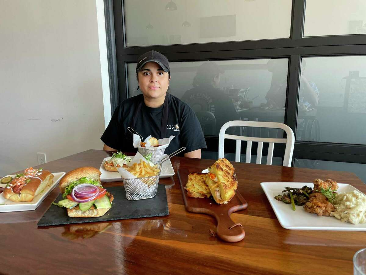 New York Eatery executive chef Roshni Gurnani shows some of the menu items being offered at the new restaurant.