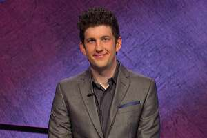 """This image provided by Jeopardy! Productions Inc. shows contestant Matt Amodio. The Yale University doctoral candidate in computer science had landed high on the list of all-time top """"Jeopardy!"""" winners. (Jeopardy! Productions Inc. via AP)"""