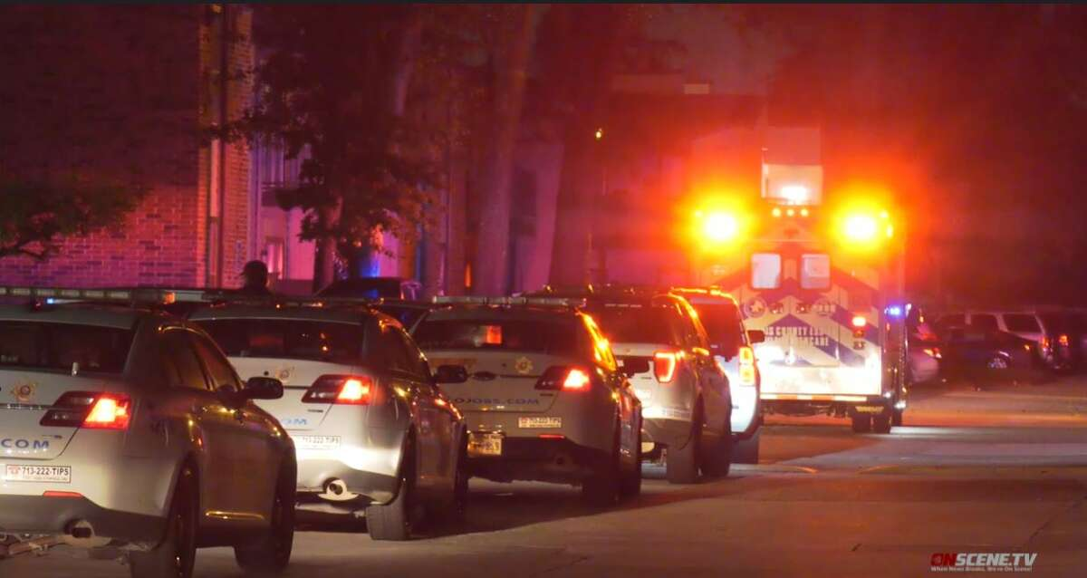 A woman was shot and killed in north Harris County early Thursday morning after two men entered an apartment and demanded money, according to the Harris County Sheriff's Office.