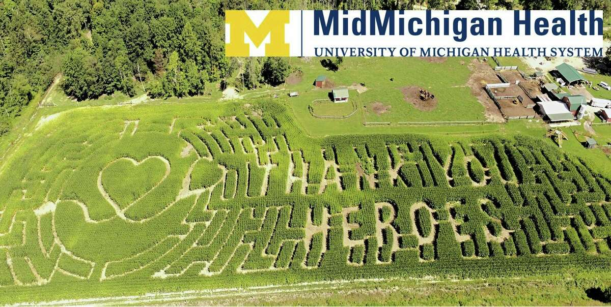 MidMichigan Heath is the maze advertising partner of the 2021 corn maze at Grandma's Pumpkin Patch. (Photo provided)