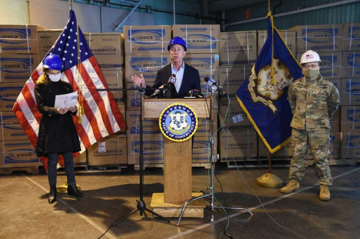 In May 2020, Gov. Ned Lamont held a press conference announcing the arrival of N95 masks and other PPE from China for health care workers. Connecticut now has nine pallets with Hanes cloth masks it cannot use.