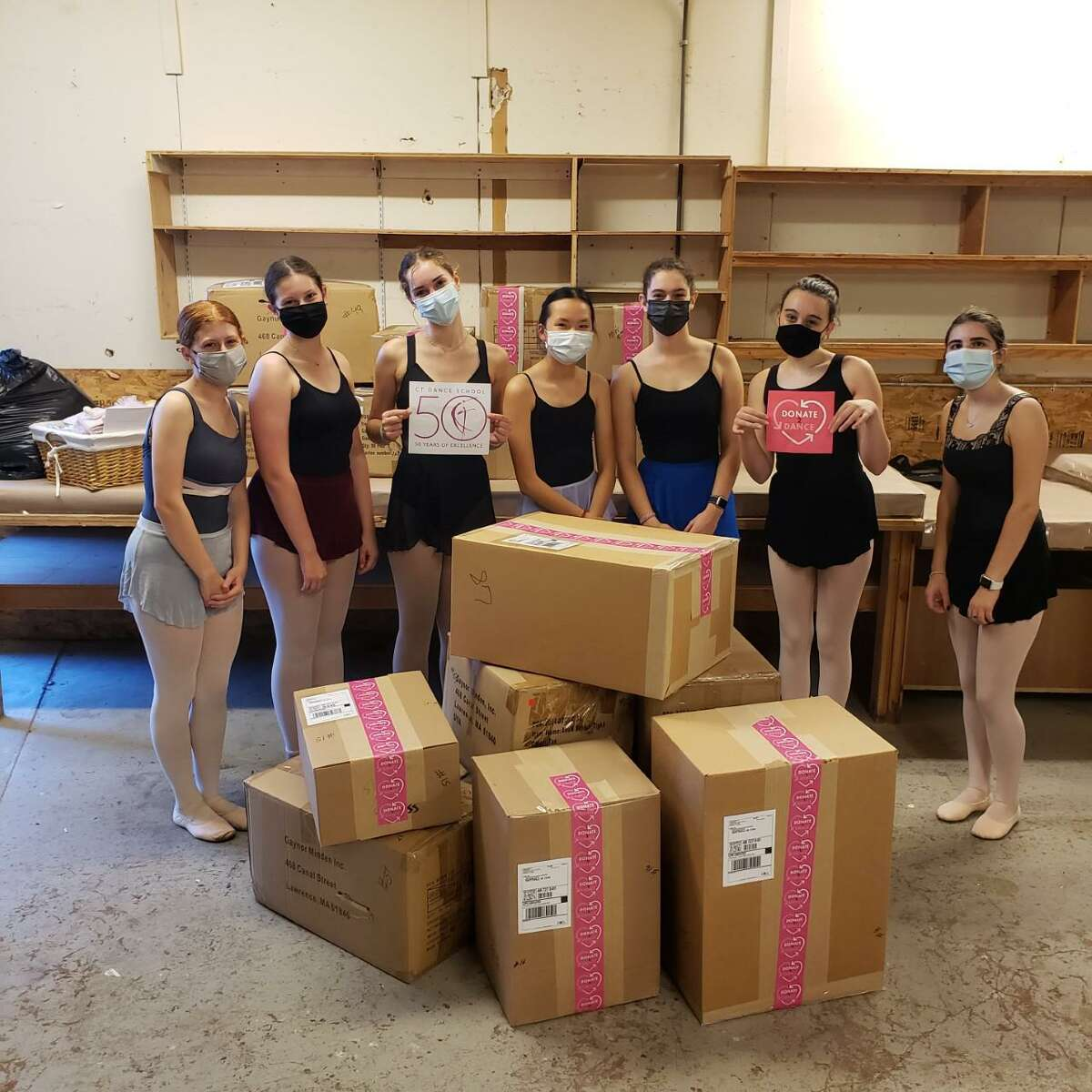 Teen ballet dancers from the Connecticut Dance School, CDS, and teens from the non-profit organization charity, Donate2Dance, recently partnered in the summer of 2021, to bring joy to other young dancers around the world, who were in need of dancewear.
