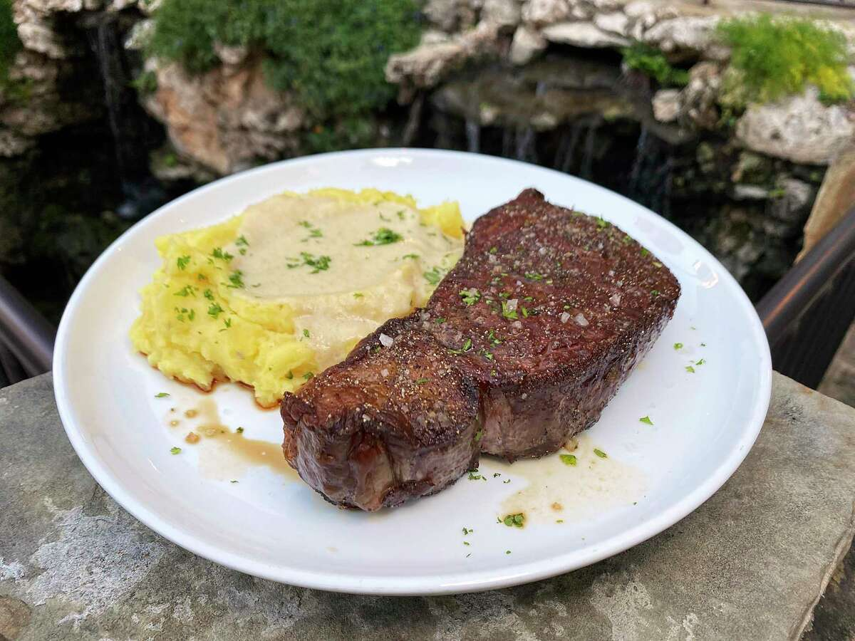 Hotel restaurants offer some of the best dining options on the River Walk. A cast iron-seared rib-eye steak is a centerpiece of the menu at Range at the Embassy Suites by Hilton San Antonio Riverwalk Downtown.