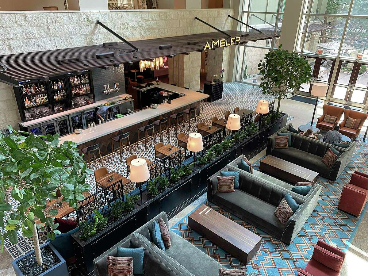 Ambler Texas Kitchen + Cocktails at Hotel Contessa on the River Walk features Texas-influenced food and a full bar.