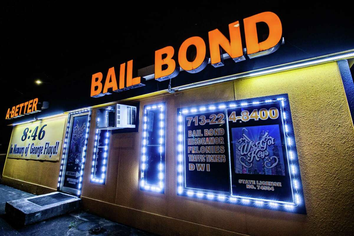 A Better Bail Bond at Washington Ave., Friday, Oct. 8, 2021, in Houston.