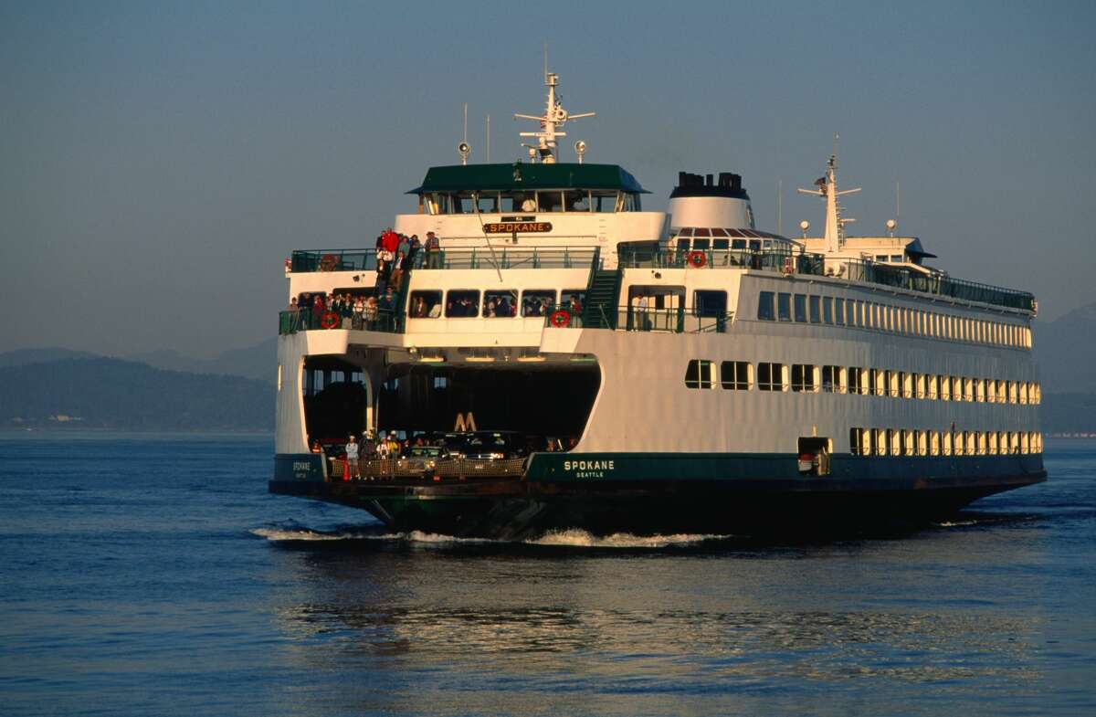 Ferry sailing out of Seattle.