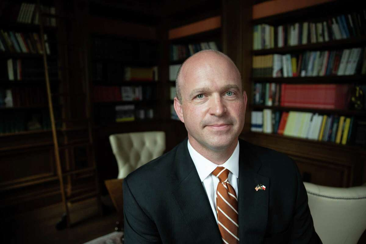 President Kevin Roberts at the Texas Public Policy Foundation, Monday, Oct. 8, 2018 in Austin.