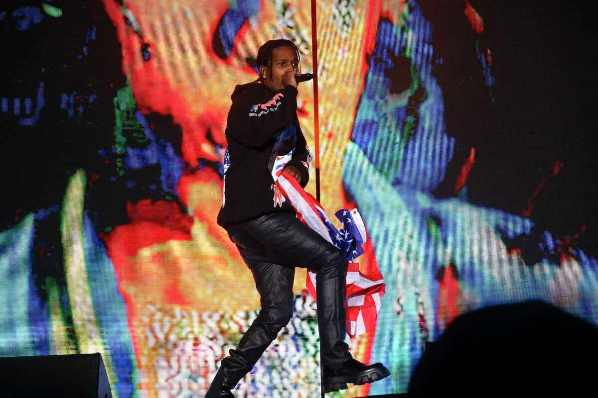 Musician A$AP Rocky performs at the 2021 Governors Ball music festival at Citi Field on Saturday, Sept. 25, 2021, in New York.