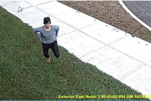 Kevin Dahl was captured by video outside of the Saratoga County Sheriff's Office on Thursday morning.